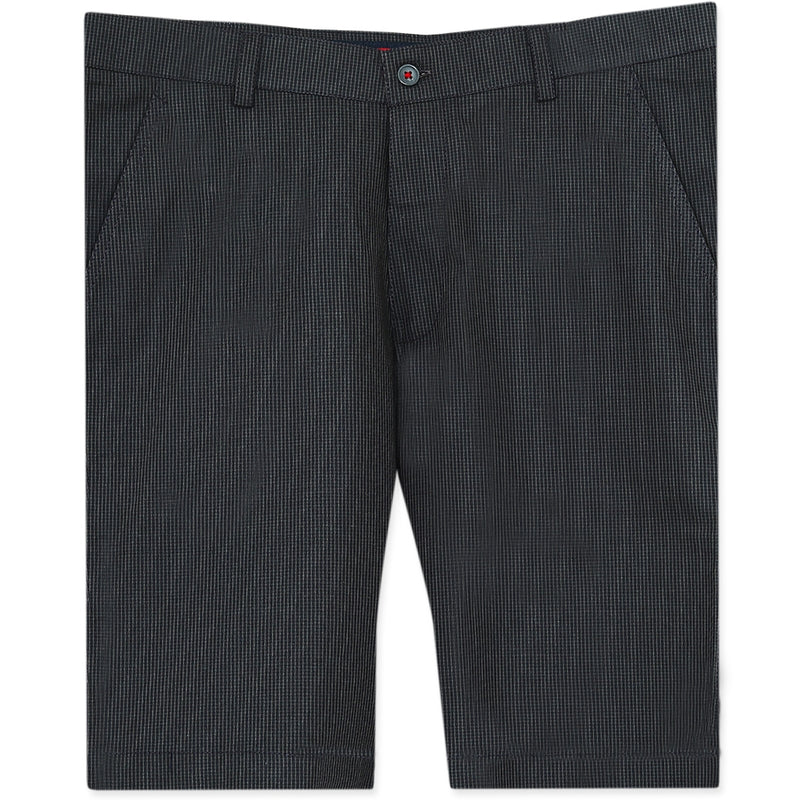 Iron Grey Checked regular fit Cotton Shorts