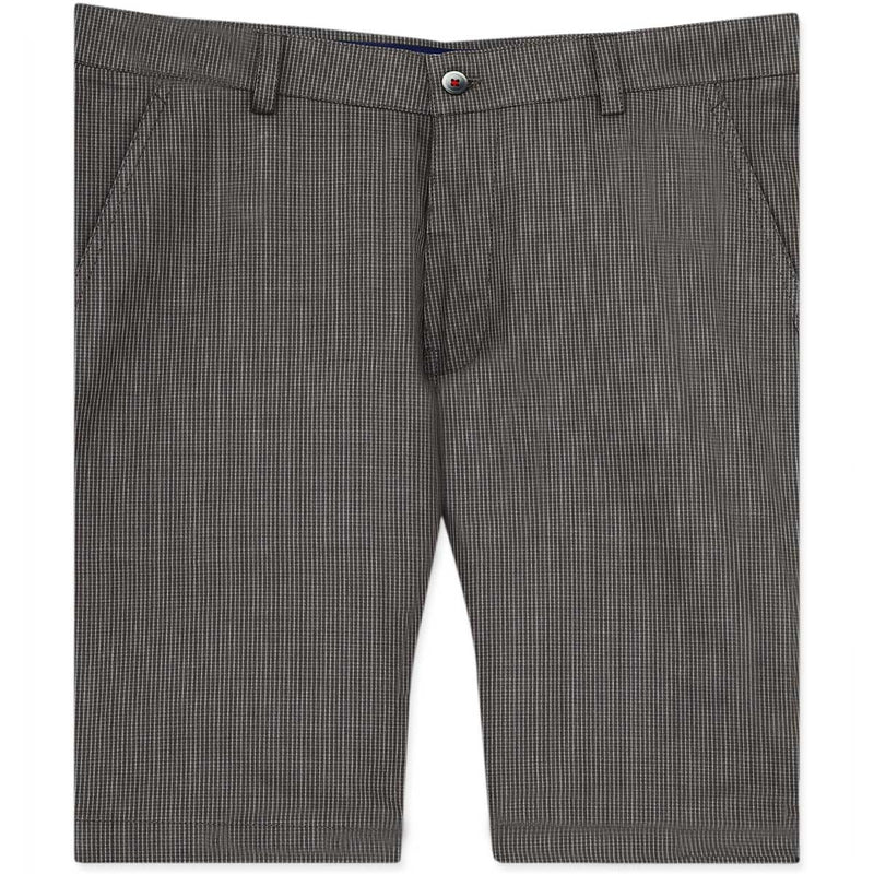Peanut Brown Checked regular fit Cotton Shorts