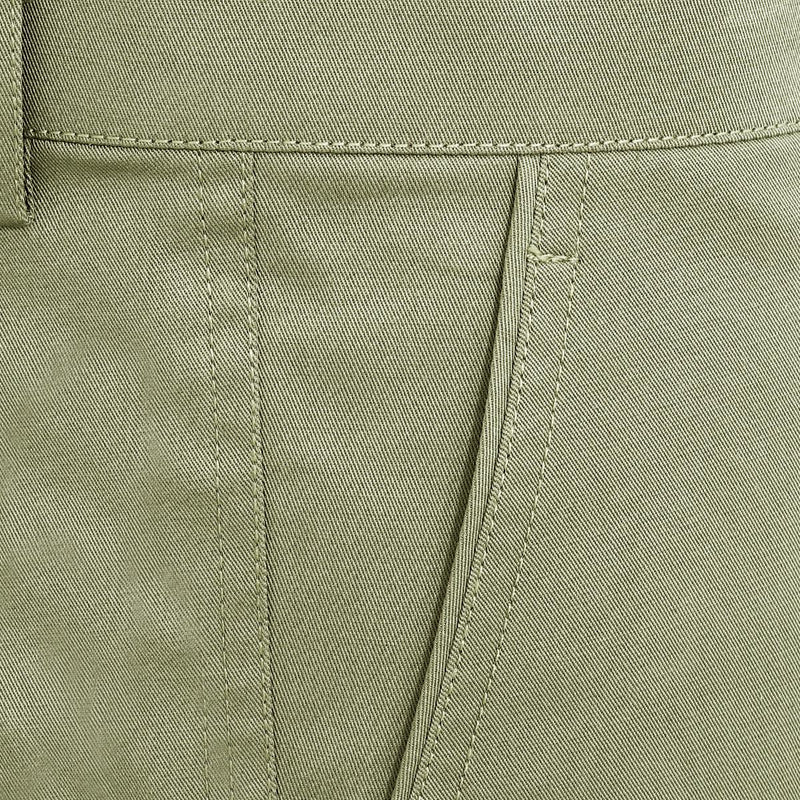 Army Green Regular fit Cotton Shorts