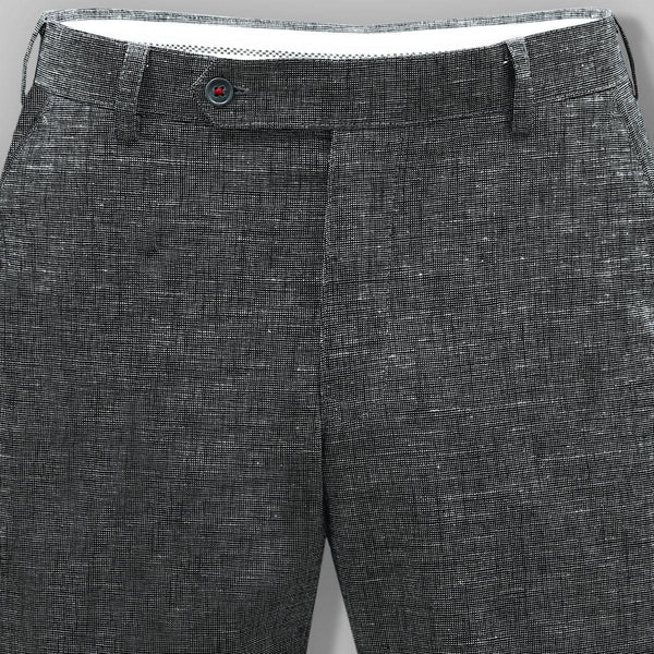 Dark Grey Formal Linen cotton Trouser