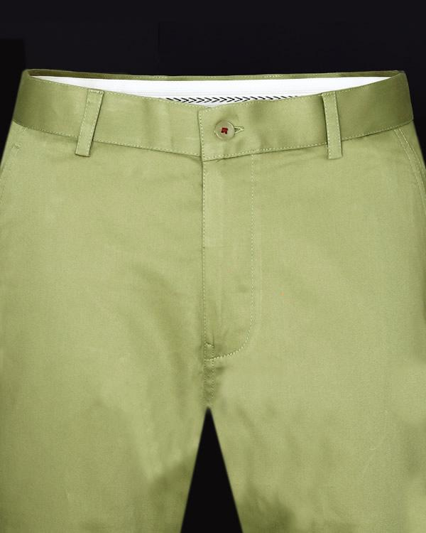 Pickle Green Regular fit Cotton Chino