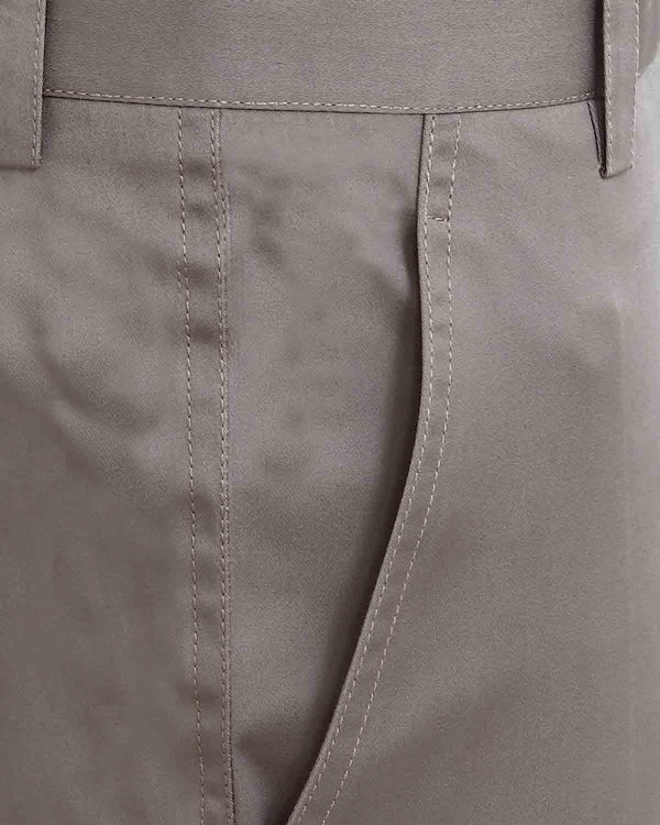 Taupe Brown Regular fit Cotton Chino