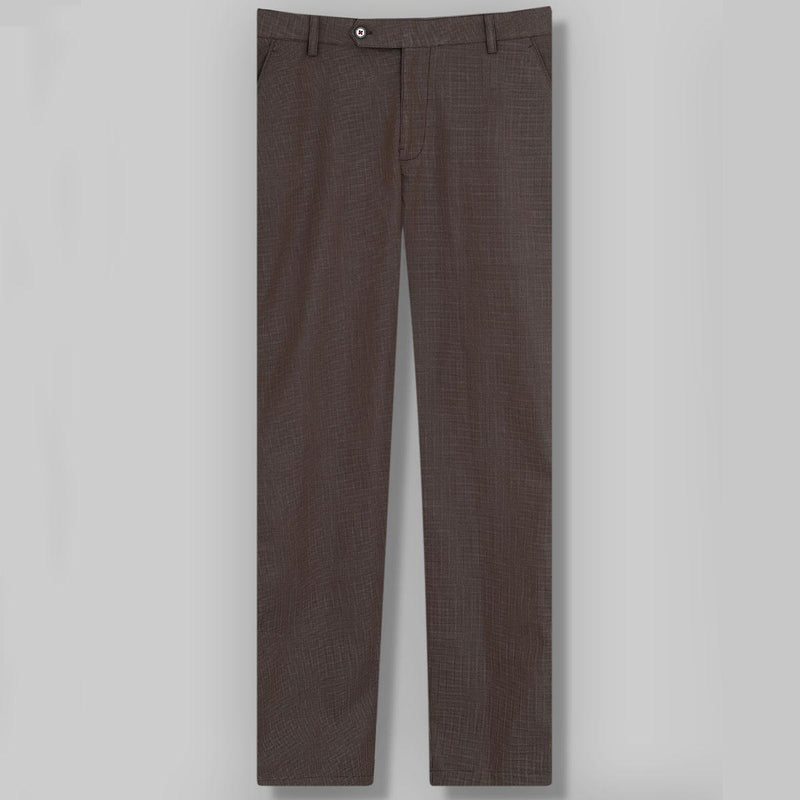 Reddish Brown Checked regular fit Cotton Trouser