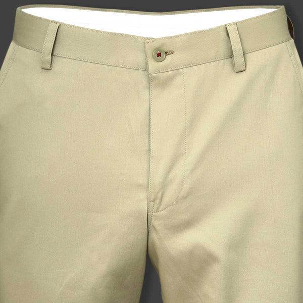 Flax Cream regular fit Cotton Trouser