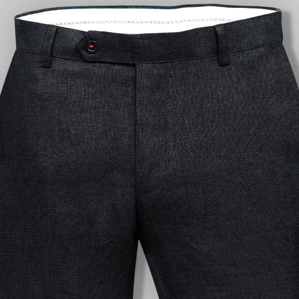 Raven Black Regular fit LINEN Trouser