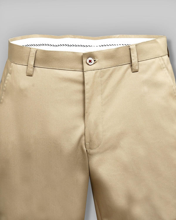 Melow Cream regular fit Cotton Trouser