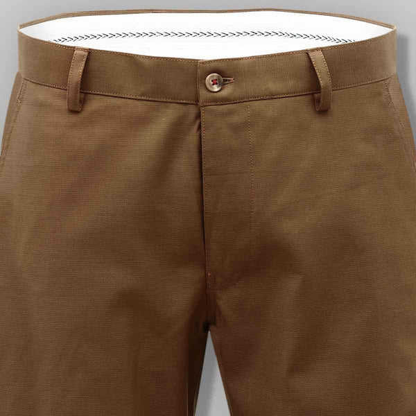 Reddish Khaki Regular fit Cotton Trouser