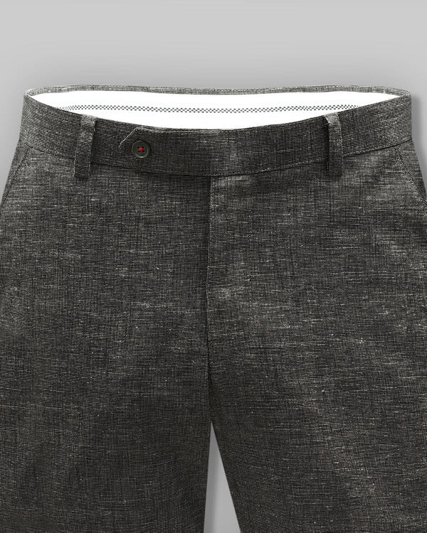 Espresso Brown Formal Linen cotton Trouser
