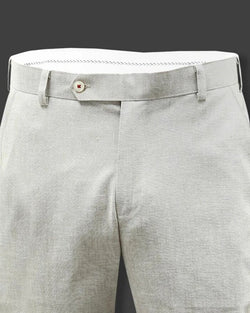 Light Cream Formal Linen cotton Trouser