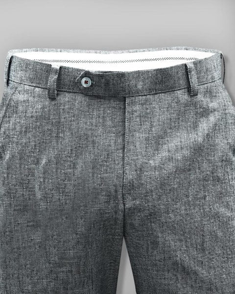 Light Grey Formal Linen cotton Trouser