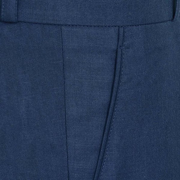 Royal Blue Regular fit Tere-rayon Trouser
