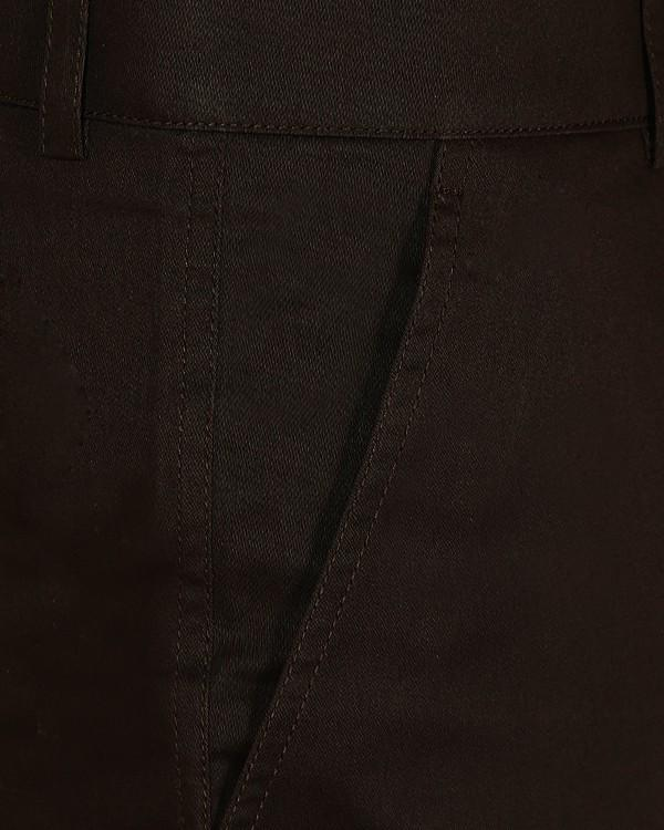 Coffee Regular fit Cotton Chino