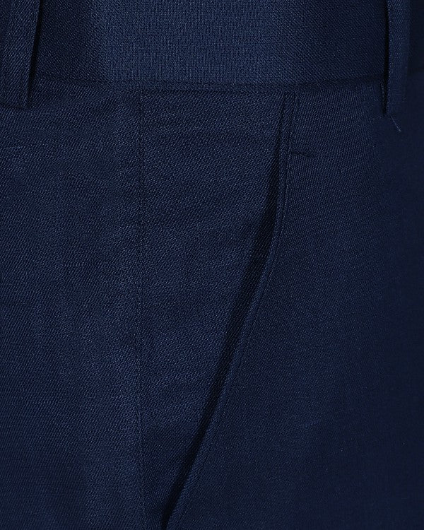 Oxford Blue Regular fit LINEN Trouser