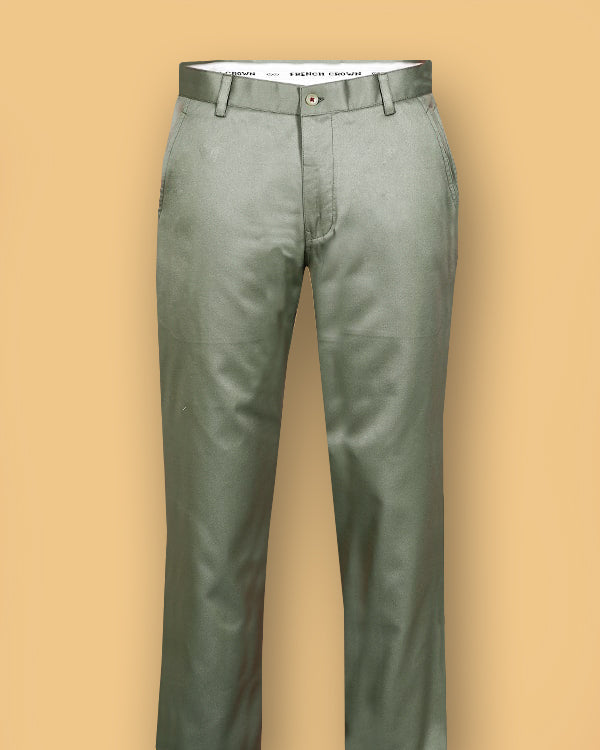 Pastel Green Regular fit Cotton Pant