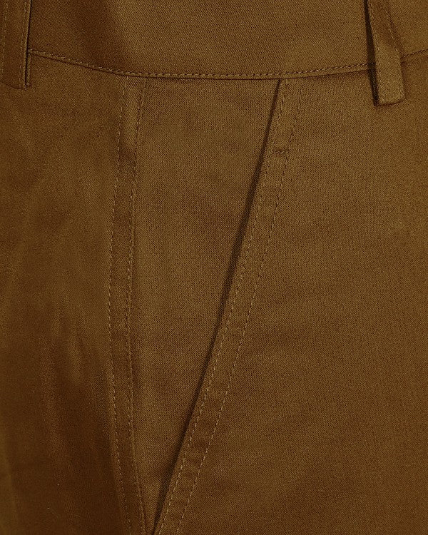 Brick khaki Regular fit Stretchable Cotton Trouser