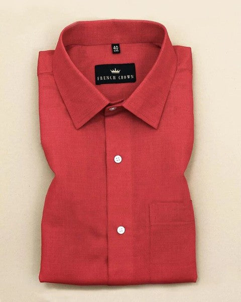 Rose Red Linen cotton SHIRT