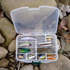 Meiho Fly Case F holds multiple lures, making it excellent for spin fishing.