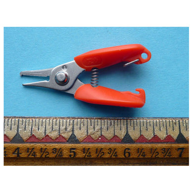 Daiwa Split Ring Pliers - Small, with ruler to show scale. Pliers are about 2 1/2