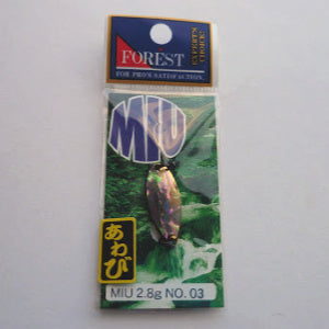 Forest MIU Abalone Spoon 2.8g inside package