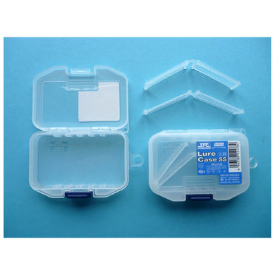 Meiho Lure Case SS  closed and open showing removable dividers.
