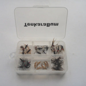 Minimalist Fly Box - small 6 compartment box full of flies