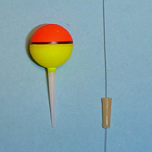 Nakazima Ball Float showing the float with stem and the rubber tube the  stem slides into.