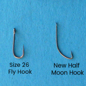 Comparison of size 26 fly hook and Owner New Half Moon Tanago Hook