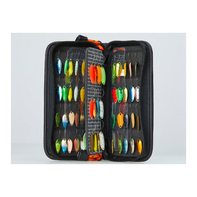 Daiwa Presso Lure Wallet - medium (opened, showing rows of spoons)