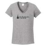 Ladies v-neck t-shirt - heather gray