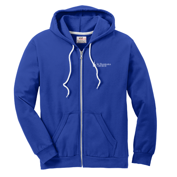 Full zip hood - royal