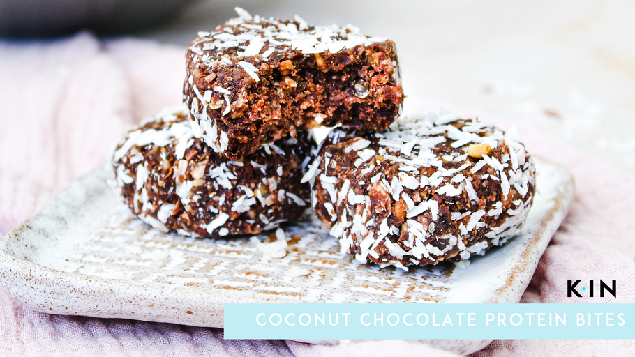 KIN Nutrition Coconut Chocolate Protein Bites
