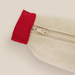 Red Lines Collection, Handpainted Makeup Bag