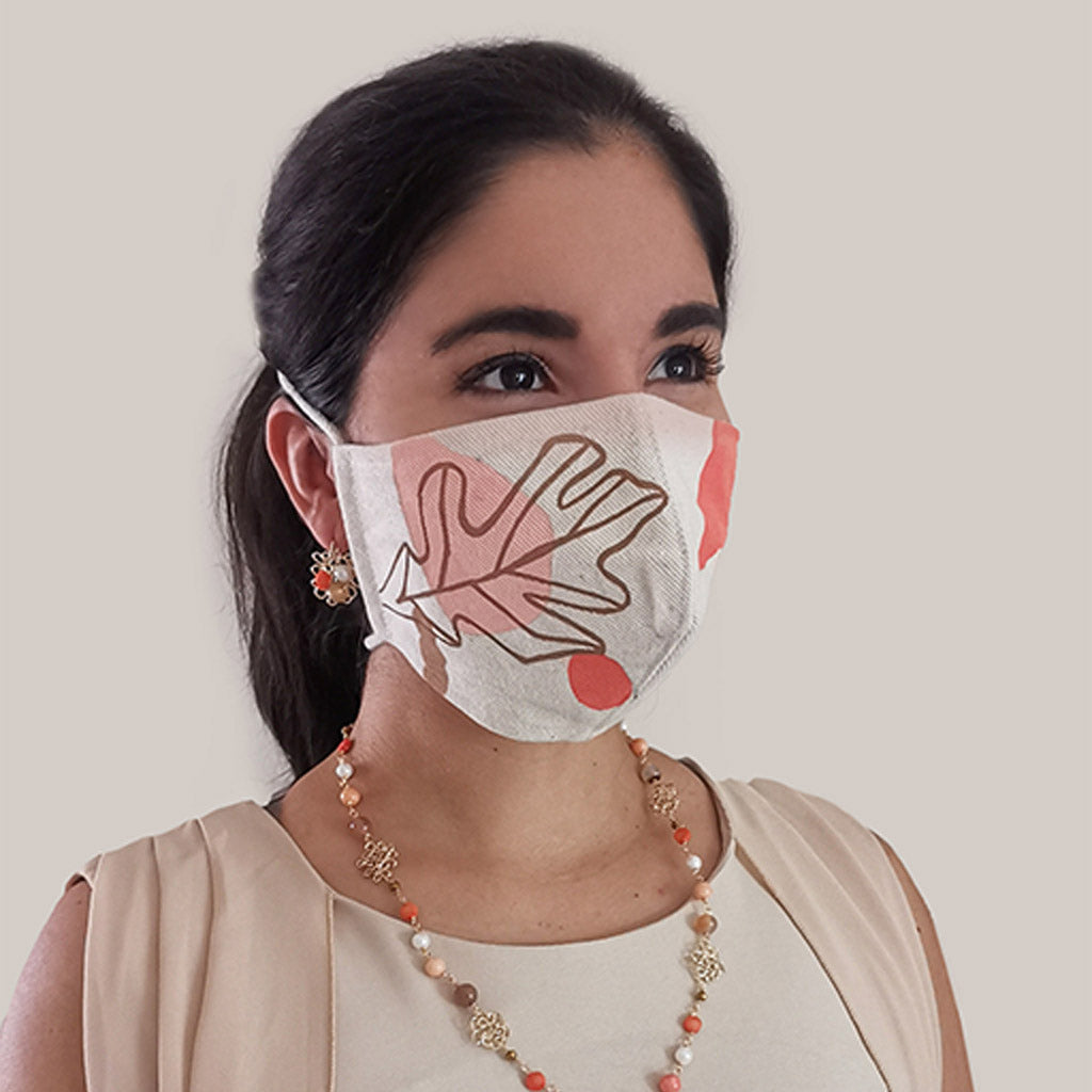 Pink Abstract - Reusable Fabric Facemask