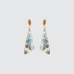 Aquamarine triangular earrings