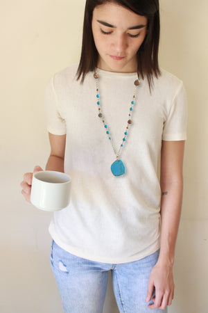 Turquoise Stone long necklace