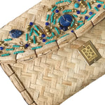 Blue and Turquoise Beads Clutch
