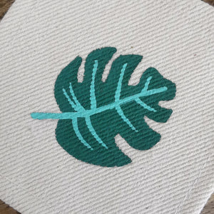 Tropical Jungle Collection, HandPainted Coasters, set of 4