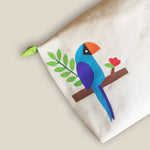 Blue Bird Collection, Handpainted Makeup Bag