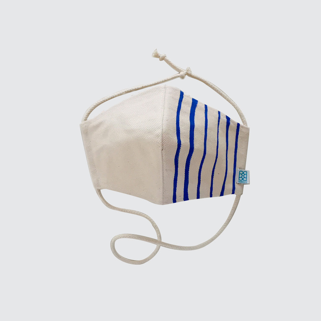 Blue Lines - Reusable Fabric Facemask