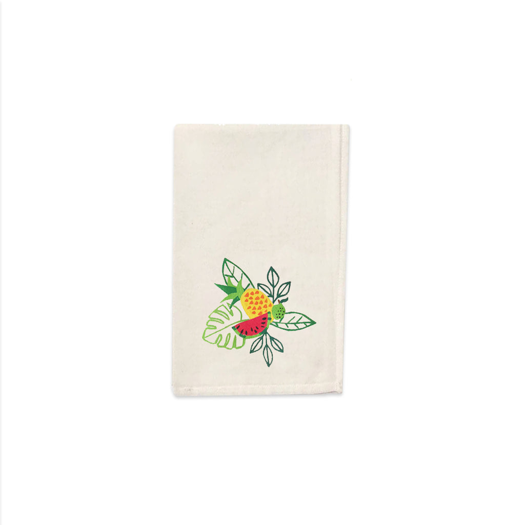 Tropical Fruits Collection, Handpainted Napkins, Set of 4.