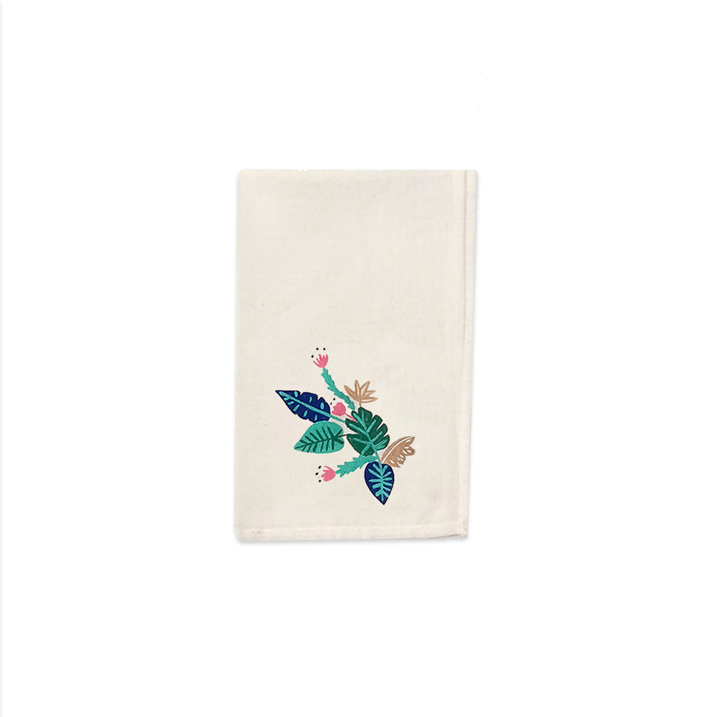 Tropical Jungle Collection, Handpainted Napkins, Set of 4.