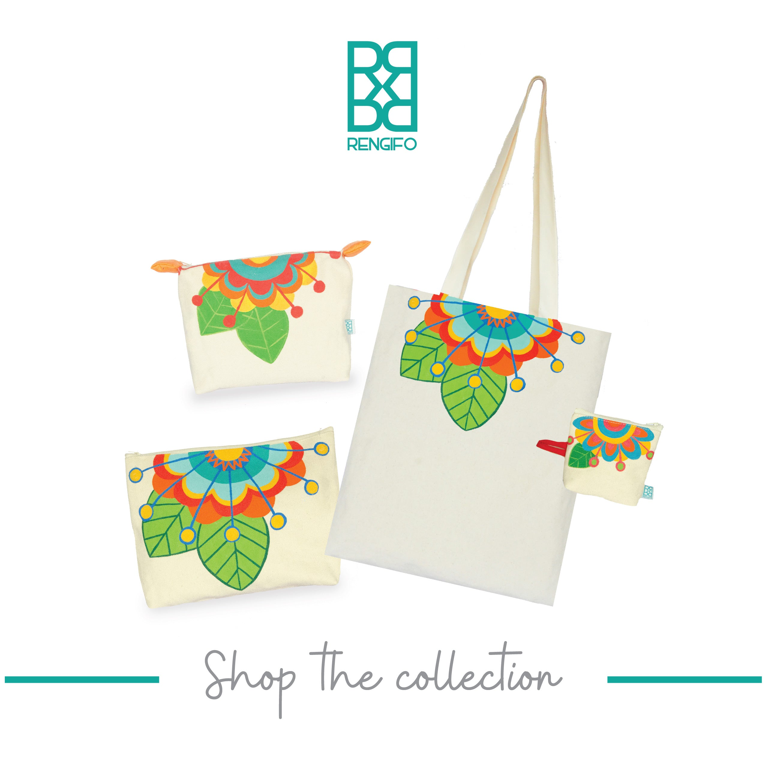 Floral Collection, Handpainted Travel Bag