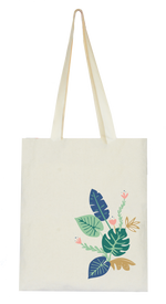 Tropical Jungle Collection, Handpainted Tote Bag