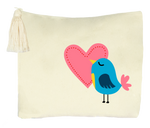 Love Bird Collection, Handpainted Travel Bag