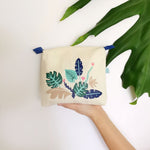 Tropical Jungle Collection, Handpainted Makeup Bag