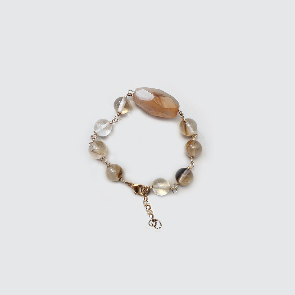 Agatha, Quartz and Pearls Bracelet