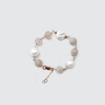 Cloudy Quartz and Pearls Bracelet