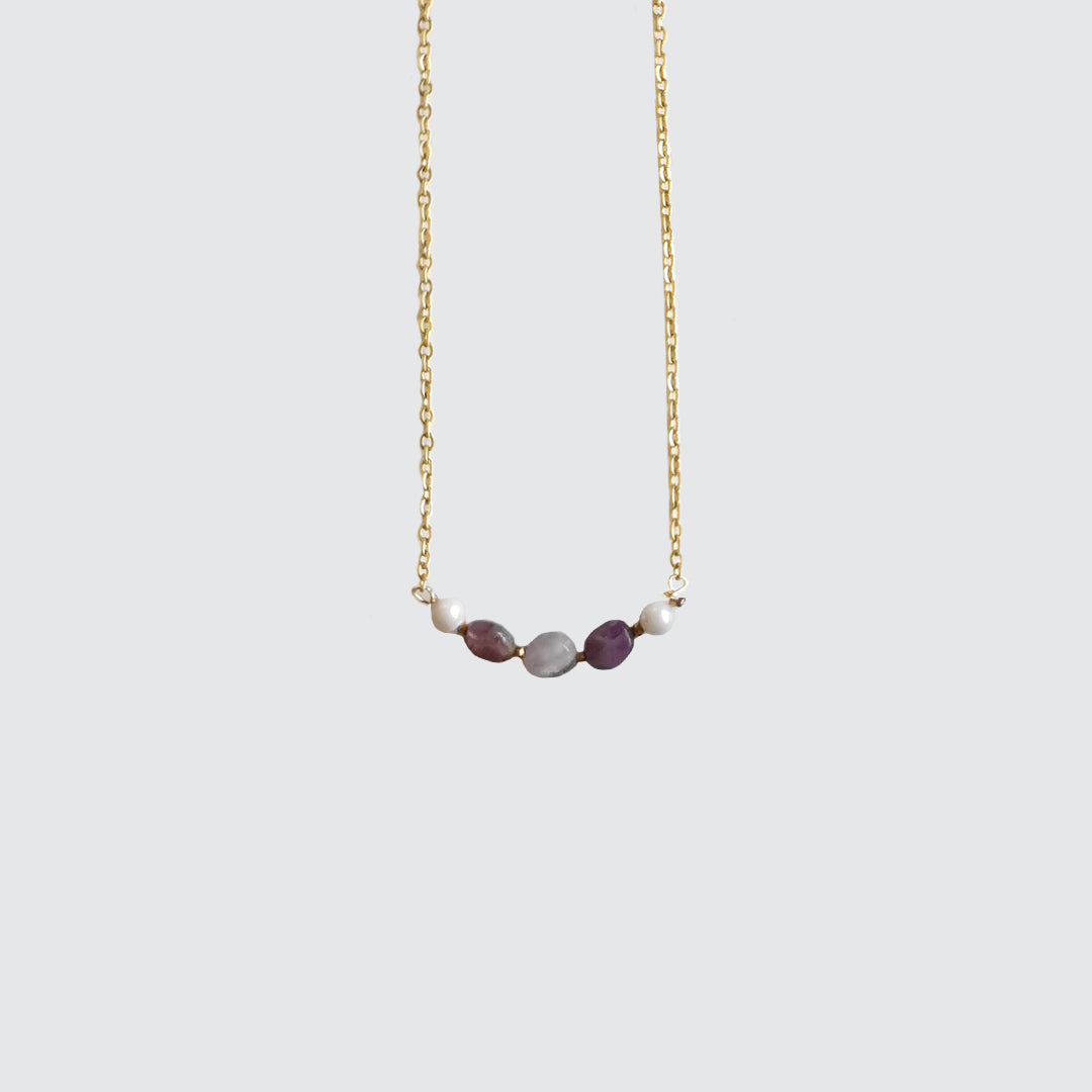 Purple Amethyst Stone necklace