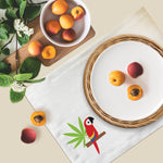 Geometric Guara Collection, Handpainted Cotton Placemats