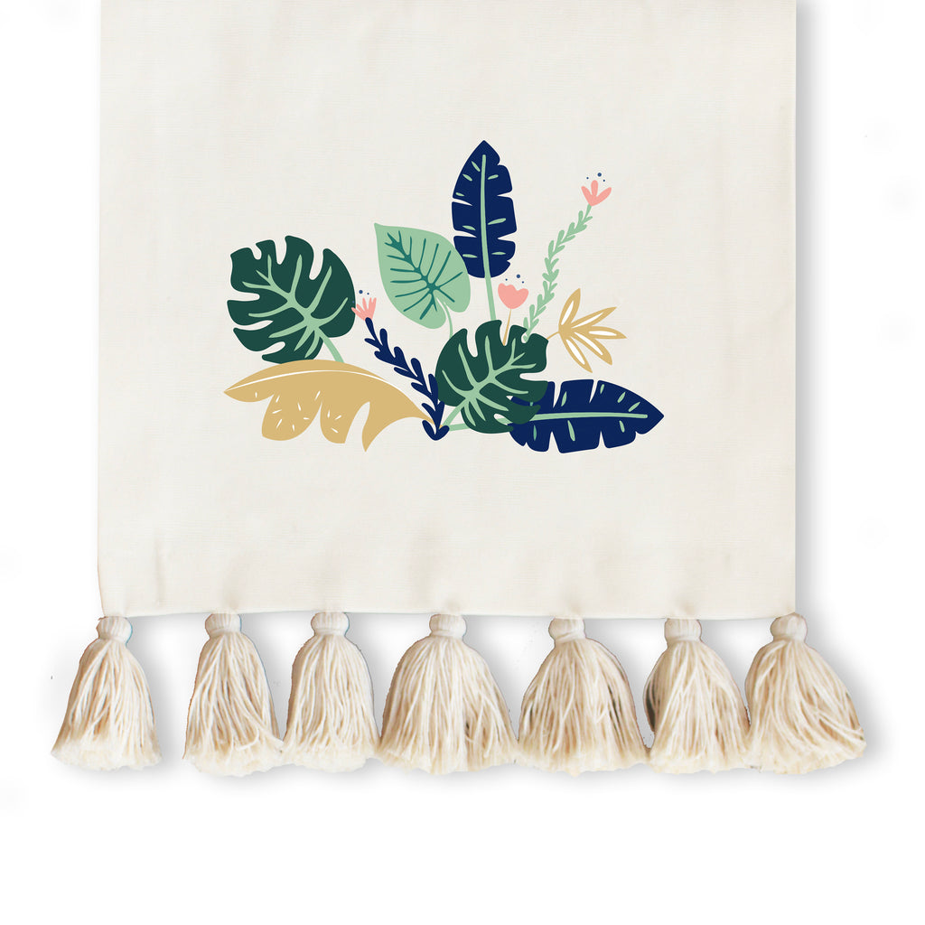 Tropical Jungle Collection, Handpainted Table Runner